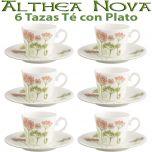 6 Tazas Té con Plato Althea Nova Villeroy & Boch