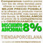 Descuento 8% vajilla Maya Vista Alegre 20 piezas