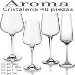 Cristalería 48 Copas Aroma Vista Alegre Atlantis