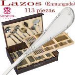 Cubertería Clásica LAZOS 113 piezas marca MENESES