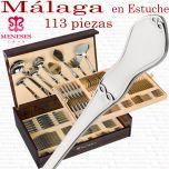 Cubertería Clásica modelo MALAGA 113 piezas marca MENESES