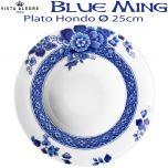 Vista Alegre Blue Ming Plato Hondo 25 cm