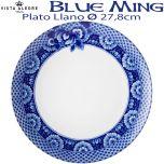 Plato Llano Vista Alegre BLUE MING 27,8 cm Ø