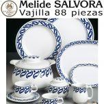 Vajilla + Café + Té + Desayuno 88 piezas Pontesa / Santa Clara Sálvora