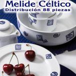 Vajilla + Café + Té + Desayuno 88 piezas Pontesa / Santa Clara Céltico