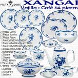 XANGAI Vista Alegre Vajilla con servicio de café 84 piezas