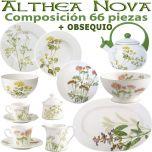 Vajilla 66 piezas Villeroy & Boch ALTHEA NOVA Flores + OBSEQUIO