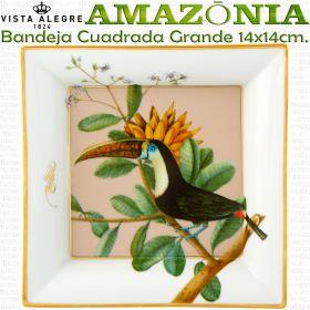 Vista Alegre AMAZONIA Bandeja Cascais Cuadrada Grande 14x14cm.