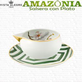 Salsera con Plato Vista Alegre AMAZONIA piezas sueltas vajilla colección