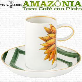 AMAZONIA Taza Café con Plato Vista Alegre AMAZONIA