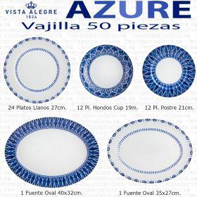 Azure lux Vista Alegre Vajilla completa 50 piezas