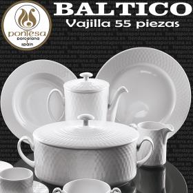 Vajilla 55 piezas Porcelanas Pontesa Baltico Blanco
