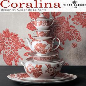 Vajilla CORALINA Oscar de la Renta Vista Alegre Porcelana