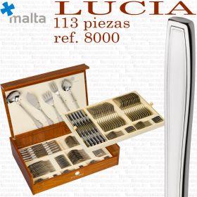 Cubertería Cruz de Malta Completa modelo LUCIA ref. 8000