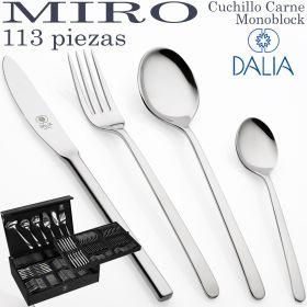 Cubertería Moderna MIRÓ 113 piezas marca DALIA ref. 9200