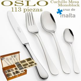 Cuberterías OSLO 113 piezas ref. 7000 Cruz de Malta con Cuchillo Mesa