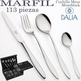 Cubertería modelo MARFIL 113 piezas marca DALIA