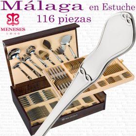 Cubertería Clásica modelo MALAGA 116 piezas marca MENESES