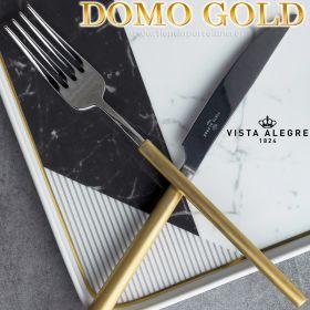 Cubertería Domo Handle MattGold 130 piezas Vista Alegre Domo mango Oro Mate