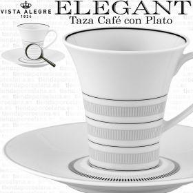 Detalle Taza Café con Plato Vista Alegre ELEGANT