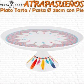 ATRAPASUEÑOS Bandeja Tarta / Pastas con Pie Ø 28cm Vista Alegre Pineda Covalin