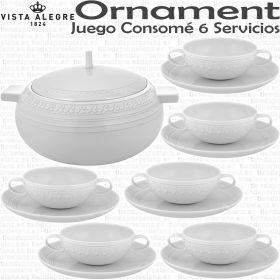 juego consome completo con sopera 6 servicios 13 piezas vista alegre domo ornament
