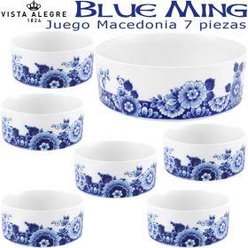 Juego de Macedonia 6 servicios (7 piezas) Vista Alegre BLUE MING
