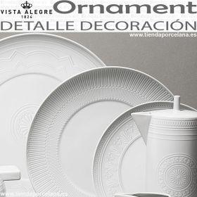 Vajilla Ornament Vista Alegre detalle platos y otras piezas