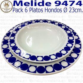 Platos Hondos 23cm Ø Pontesa / Santa Clara Melide 9474
