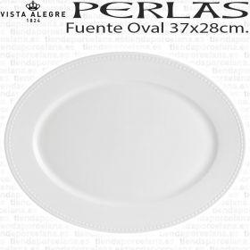 Fuente oval para servir Perla Vista Alegre 37x28cm servicio de mesa hogar hosteleria, porcelana profesional