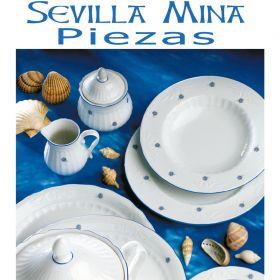 Liquidación de stocks - Restos de sere vajilla Santa Clara Sevilla Mina Flores Azules