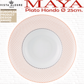 Plato Hondo Vista Alegre MAYA 25cm
