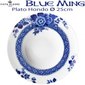 Plato Hondo Vista Alegre BLUE MING 25 cm Ø