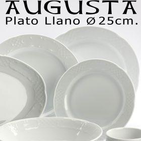 Plato Llano 25 cm Augusta Santa Clara Pontesa, platos baratos uso diario