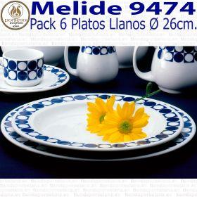 MELIDE 9474 Plato Llano 26cm