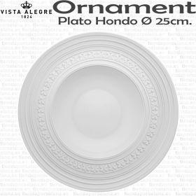 VAJILLA CLASICA - Plato Hondo 25cm Ø Vista Alegre Domo Ornaments