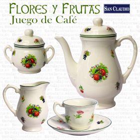 Flores y Frutas Lozas San Claudio Juego Café 12 servicios 27 piezas