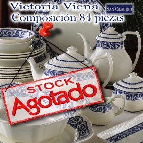 Vajilla con Juego Café 83 / 84 piezas Victoria Viena San Claudio loza