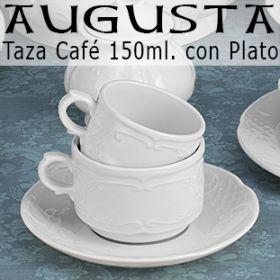 Tazas Café/Leche 150ml con Plato Augusta Santa Clara