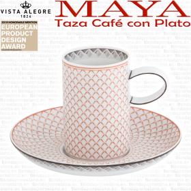 MAYA Vista Alegre Taza Café con Plato