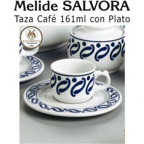 Tazas Café Leche 161ml con Plato Melide SALVORA Pontesa / Santa Clara