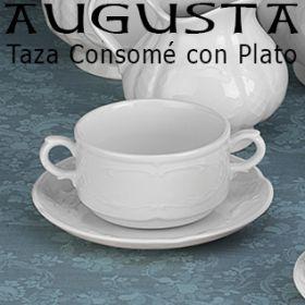 Taza Consomé con Plato Augusta Santa Clara - Pontesa