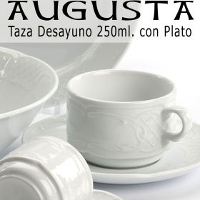 Tazas Desayuno 250ml con Plato Augusta Pontesa