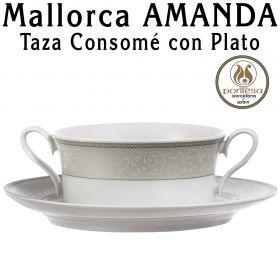 Taza Consomé con Plato Santa Clara Pontesa Mallorca Amanda