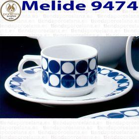 Melide 9474 Pontesa Santa Clara Tazas con Plato Desayuno