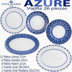 AZURE LUX vajilla corte ingles Vista Alegre 26 piezas