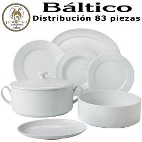 Vajilla con Juego Café BALTICO Santa Clara Pontesa 83 piezas