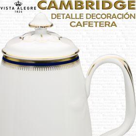 Cambridge Cafetera Vista Alegre Porcelana detalle decoración