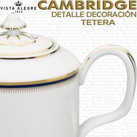 Tetera Cambridge Vista Alegre detalle decoración