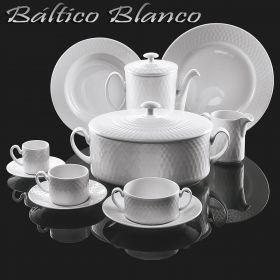 Vajilla + Café/Té 83 piezas Pontesa Sta. Clara Baltico uso diario